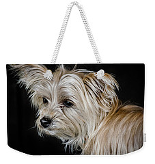 White Puppy Weekender Tote Bag