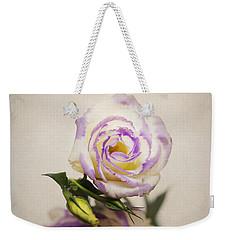 White Purple Lisianthus Weekender Tote Bag