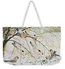 White Rabbits Weekender Tote Bag