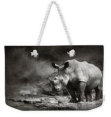 White Rhinoceros Weekender Tote Bag
