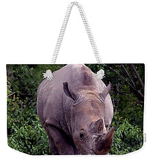 White Rhinoceros Water Coloring Weekender Tote Bag