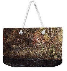 Weekender Tote Bag featuring the photograph White River by Donna Smith
