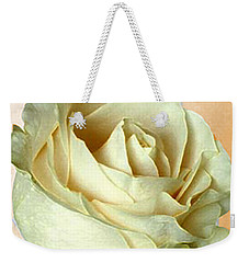 Weekender Tote Bag featuring the photograph White Rose On Sepia by Nina Silver