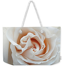 Weekender Tote Bag featuring the photograph White Rose by Tiffany Erdman