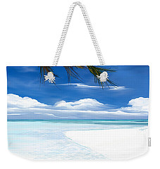 White Sand And Turquoise Sea Weekender Tote Bag by Anthony Fishburne