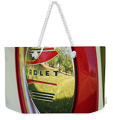 White Sidewalls On Chevy Weekender Tote Bag