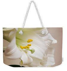White Softness Weekender Tote Bag