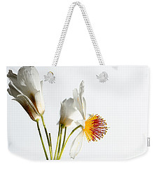 White Sparmannia Africana Plant. Weekender Tote Bag
