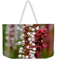 White Stalk Flower Weekender Tote Bag