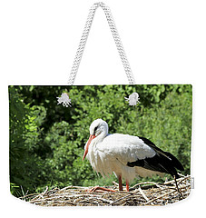 White Stork  Weekender Tote Bag by Teresa Zieba