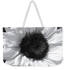 Weekender Tote Bag featuring the photograph White Sunflower by Jeannie Rhode