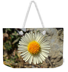 White Wild Flower Weekender Tote Bag by Salman Ravish