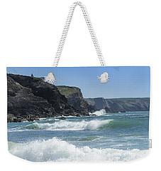 White Surf Weekender Tote Bag