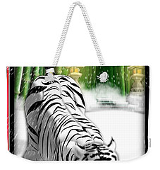White Tiger Guardian Weekender Tote Bag