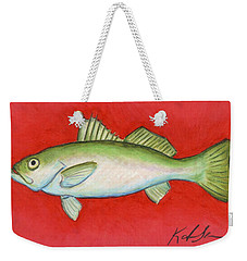 White Trout Weekender Tote Bag