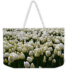 White Tulip Field  Weekender Tote Bag