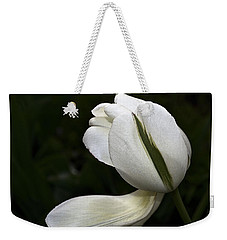 Weekender Tote Bag featuring the photograph White Tulip by Nadalyn Larsen