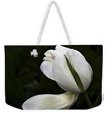 White Tulip Weekender Tote Bag by Nadalyn Larsen