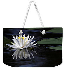 White Water Lily Left Weekender Tote Bag
