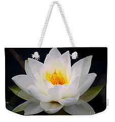 White Water Lily Weekender Tote Bag by Nina Ficur Feenan