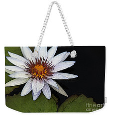 White Water Lily Weekender Tote Bag