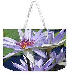 White Waterlilies Weekender Tote Bag by Chrisann Ellis