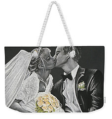 White Wedding Weekender Tote Bag