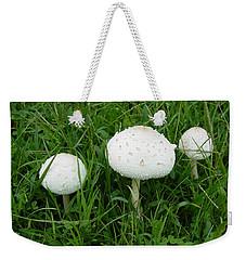 White Wild Mushrooms Weekender Tote Bag