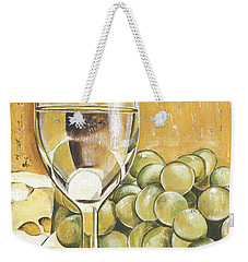 White Wine And Cheese Weekender Tote Bag by Debbie DeWitt