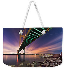 Whitestone Bridge Weekender Tote Bag by Mihai Andritoiu