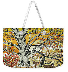 Whitetails And White Oak Tree Weekender Tote Bag