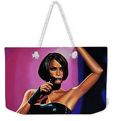 Whitney Houston On Stage Weekender Tote Bag
