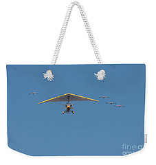 Whooping Cranes And Operation Migration Ultralight Weekender Tote Bag by Paul Rebmann