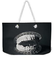 Weekender Tote Bag featuring the photograph Whose Teeth Are These? by Trish Mistric
