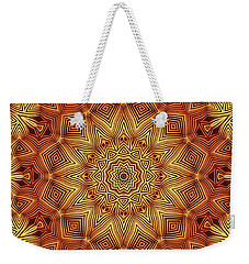 Wicker Pattern Mandala Weekender Tote Bag by Lyle Hatch
