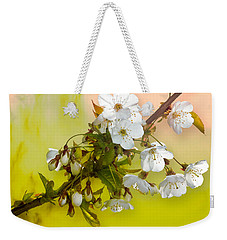 Wild Cherry Blossom Cluster Weekender Tote Bag by Jane McIlroy