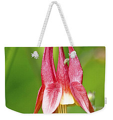 Wild Columbine Flower Weekender Tote Bag