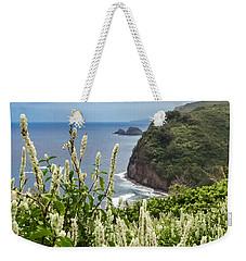 Wild Flowers At Pololu Weekender Tote Bag by Denise Bird