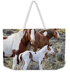 Wild Horse Family Portrait Weekender Tote Bag