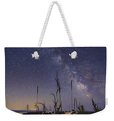 Wild Marguerites Under The Milky Way Weekender Tote Bag by Mircea Costina Photography