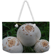 Weekender Tote Bag featuring the photograph Wild Mushrooms by Miguel Winterpacht