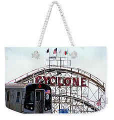 Weekender Tote Bag featuring the photograph Wild Rides by Ed Weidman