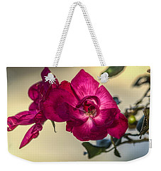 Wild Rose Weekender Tote Bag by Jane Luxton