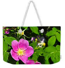 Weekender Tote Bag featuring the photograph Wild Roses by Cathy Mahnke