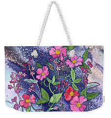 Wild Roses Weekender Tote Bag by Teresa Ascone