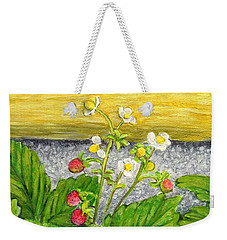 Wild Strawberries In Summer Weekender Tote Bag