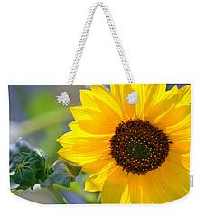 Weekender Tote Bag featuring the photograph Wild Sunflower by Nadalyn Larsen