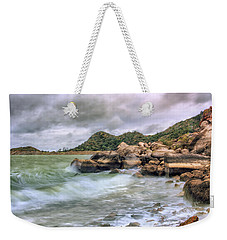 Wild Weather On Lake Altus - Oklahoma - Quartz Mountains Weekender Tote Bag