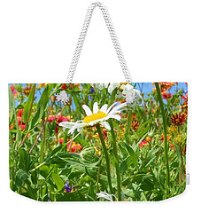 Weekender Tote Bag featuring the photograph Wild White Daisies #2 by Robert ONeil