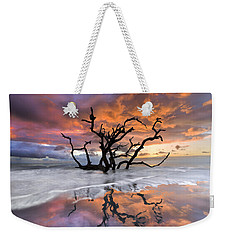 Wildfire Weekender Tote Bag by Debra and Dave Vanderlaan